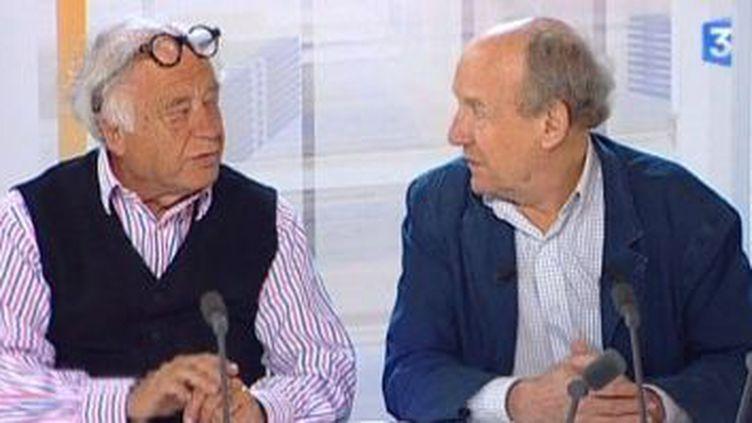Jean-Claude Mezières et Pierre Christin dans Questions En Ligne  (Culturebox)
