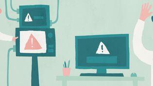 Le nombre d'hôpitaux touchés par des cyberattaques ne cesse de croître depuis cinq ans. (ELLEN LOZON / FRANCEINFO)