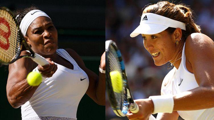 Serena Williams face à Garbine Muguruza