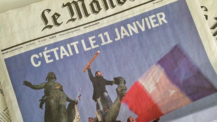 La photo de Stéphane Mahé a fait la Une de plusieurs quotidiens, comme ici e Monde  (Le Monde / Reuteurs)