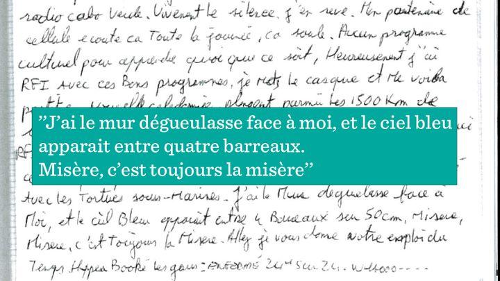 Extrait du journal d'Olivier Thomas. (RADIO FRANCE)