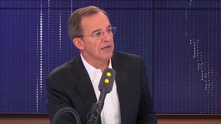 """Thierry Mariani,député européen, invité du """"8.30 franceinfo"""",samedi 7 septembre 2019. (FRANCEINFO / RADIOFRANCE)"""
