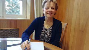 Christine Le Strat, maire de Montivy (Morbihan). (MAÏWENN BORDRON / RADIO FRANCE)