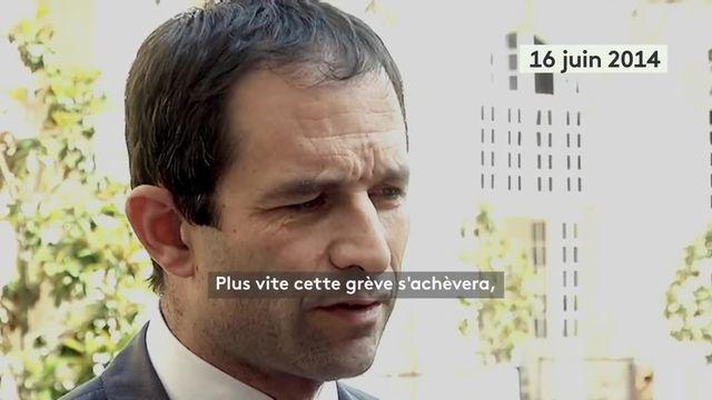 Benoit Hamon sur les grèves SNCF