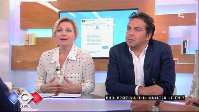 """VIDEO. """"Ce n'est pas très grave"""", réagit Florian Philippot, interrogé sur un faux SMS attribué à """"En marche"""" qu'il a propagé sur Twitter"""