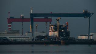 Le site des Chantiers de l'Atlantique à Saint-Nazaire (Loire-Atlantique). (LOIC VENANCE / AFP)