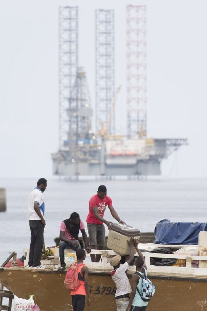 A Port-Gentil, au Gabon, en janvier 2017.  (JUSTIN TALLIS / AFP)