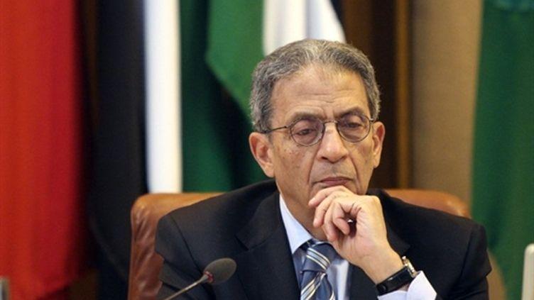 Amr Moussa, lors d'une réunion de la Ligue Arabe, au Caire, le 2/3/2011 (AFP)