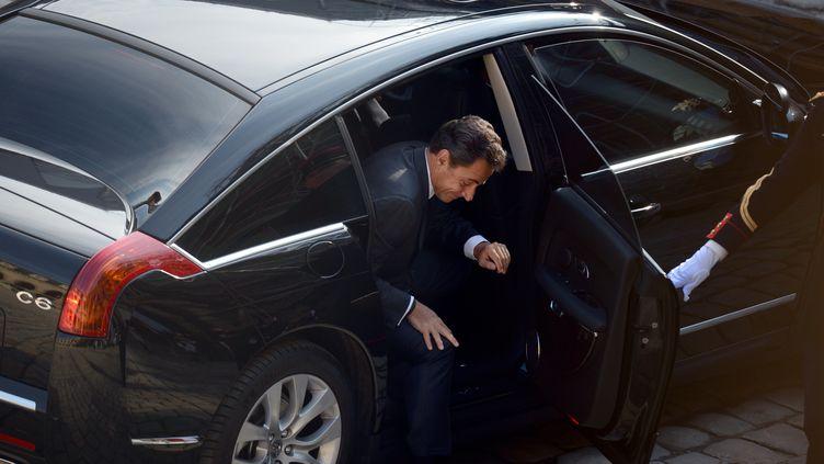 Nicolas Sarkozy, le 14 juin 2012, à Paris. (MARTIN BUREAU / AFP)
