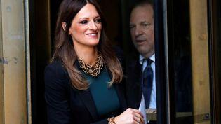 L'avocate d'Harvey Weinstein, Donna Rotunno, à la sortie de la Cour suprême de New York (Etats-Unis), à l'issue d'une audience avec le producteur déchu, le 11 juillet 2019. (MIKE SEGAR / REUTERS)