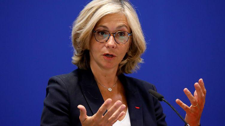 Valérie Pécresse, en conférence de presse, le 8 mai 2020, à Paris (MAXPPP)