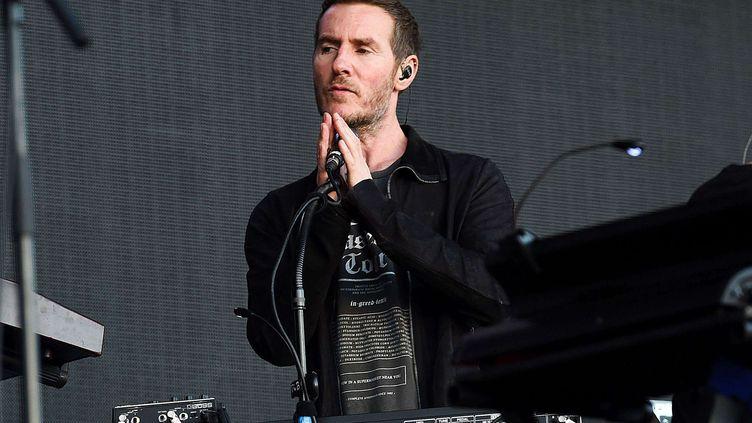 Robert Del Naja, alias 3D, leader du groupe anglais Massive Attack, le 1er juillet 2016 à Hyde Park. (SHUTTERSTOCK/SIPA)