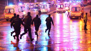 Un double attentat s'est produit à Istanbul (Turquie), le 10 décembre 2016, faisant de nombreuses victimes.  (EMRAH OPRUKCU / AFP)