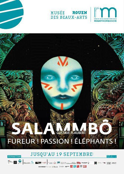 """Affiche de l'exposition""""Salammbô Fureur ! Passion ! Eléphants"""", Musée des Beaux-arts de Rouen, mai 2021 (RMN)"""