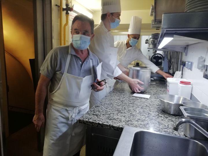 Le chef-cuisinier et propriétaire de L'Ambroisie, Bernard Pacaud. (MAIWEN BORDRON / RADIO FRANCE)