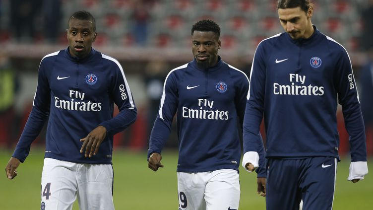Blaise Matuidi, Serge Aurier et Zlatan Ibrahimovic (VALERY HACHE / AFP)