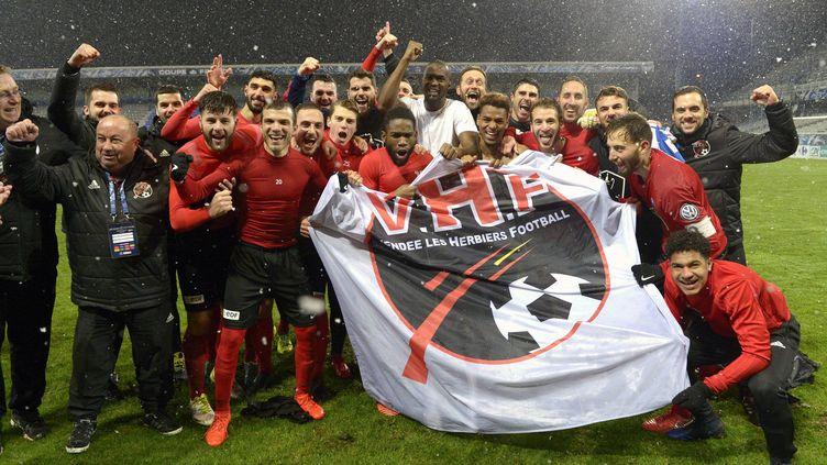 LE VHF Les Herbiers lors de sa victoire à Auxerre le 6 février. (DANIEL FOURAY / MAXPPP)