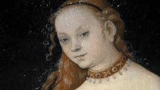 """Détail de """"Venus"""" de Lucas Cranach (1531)  (France 3 / Culturebox/ Liechtenstein The Princely Collections, Vaduz-Vienna)"""