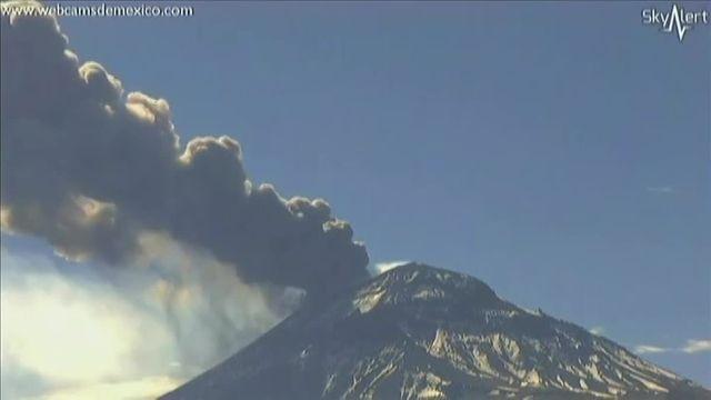 Mexique : le volcan du Popocatepetl reprend de l'activité