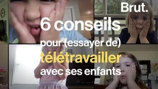 VIDEO. Mêler télétravail et enfants, c'est possible (BRUT)