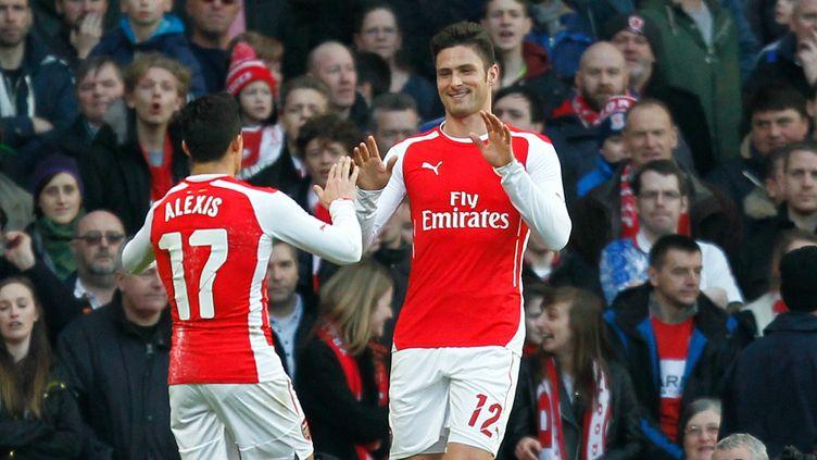 Olivier Giroud, l'attaquant d'Arsenal, a signé un doublé face à Middlesbrough (2-0) en Cup.