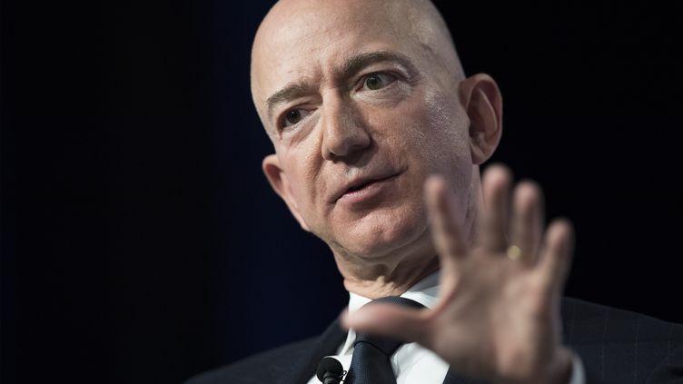 Jeff Bezos, PDG d'Amazon, lors d'une conférence dans le Maryland (Etats-Unis), le 19 septembre 2018. (JIM WATSON / AFP)