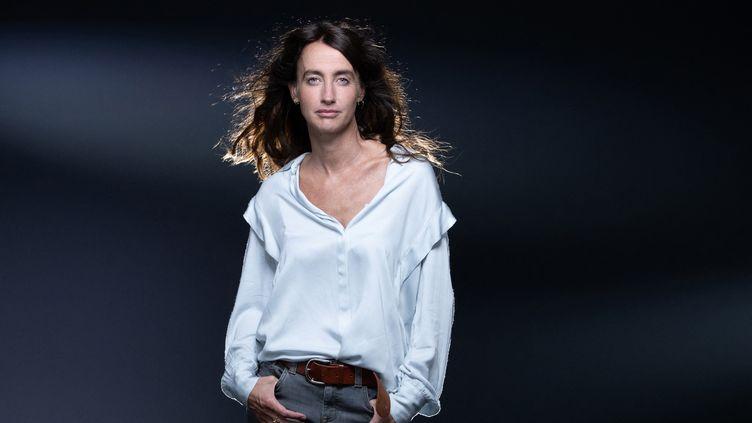La romancière Maria Pourchet le 14 septembre 2021 à Paris (JOEL SAGET / AFP)