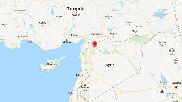"""""""Une installation d'armes chimiques et un grand nombre d'autres cibles du régime syrien"""" ont été détruites par des frappes aériennes turques, selon Ankara. (GOOGLE MAPS)"""