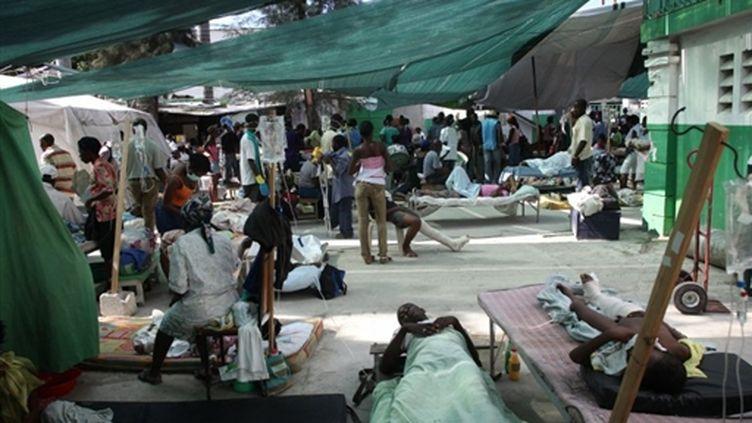 Un centre de Médecins sans frontières à Port-au-Prince (AFP/JULIEN TACK)