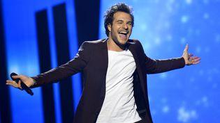Amir au concours de l'Eurovision le 14 mai 2016 à Stockholm en Suède. (JONATHAN NACKSTRAND / AFP)