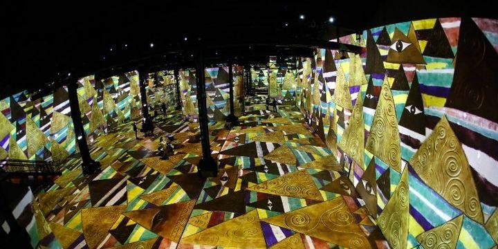 Exposition Klimt à l'Atelier des Lumières à Paris (2018)  (FRANCOIS GUILLOT / AFP)