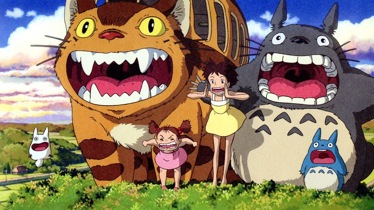 "Une image du film d'Hayao Miyazaki ""Mon Voisin Totoro"" sorti en 1988. (STUDIO GHIBLI / PHOTO 12 / AFP)"