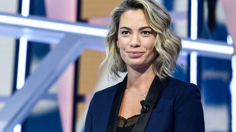 LajournalisteAnne-Laure Bonnetlors d'une conférence de presse pour présenter la chaîne Téléfoot, le 18 août 2020, à Paris. (BERTRAND GUAY / AFP)