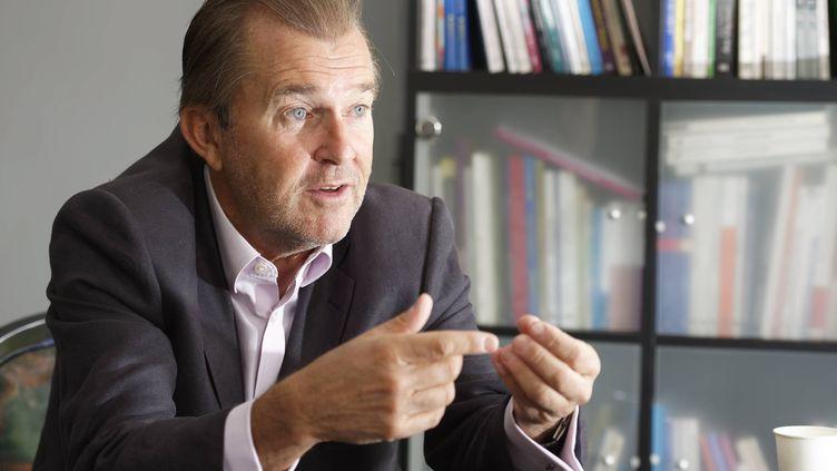 Pascal Champvert, président de l'Association des directeurs au service des personnes âgées, le 4 octobre 2019. (DANIEL FOURAY / MAXPPP)