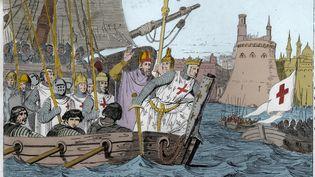 Illustration de Saint Louis et la sepitième croisade. (STEFANO BIANCHETTI / CORBIS HISTORICAL (GettyImages))