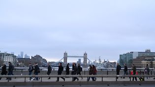 A Londres, sur le London Bridge, le 31 janvier 2020. (GLYN KIRK / AFP)