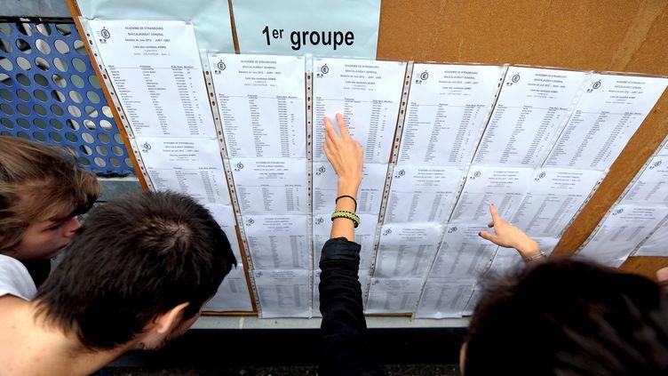 Le rectorat de Nantes (Loire-Atlantique) va ouvrir une enquête après les notes de français catastrophiques obtenues par toute une classe à La Ferté-Bernard (Sarthe). (FREDERICK FLORIN / AFP)