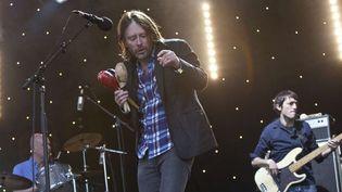 Radiohead au festival de Glastonbury (G-B) en juin 2011.  (Joel Ryan/AP/SIPA)