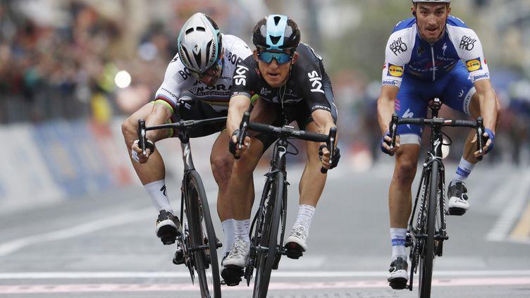Michal Kwiatkowski, vainqueur de Milan-San Remo pour la première fois de sa carrière (YUZURU SUNADA / BELGA MAG)