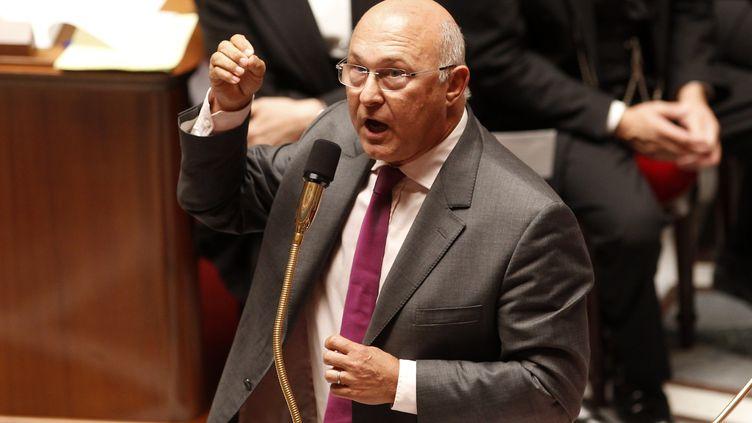 Michel sapin, ministre du Travail, le 11 septembre 2012 à l'Assemblée. (BENOIT TESSIER / REUTERS)