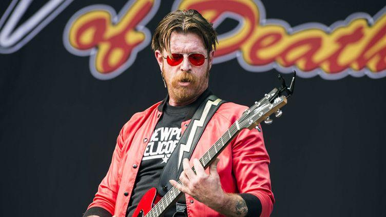 Jesse Hughes, des Eagles of Death Metal, au festival de Leeds le 28 août 2016  (Tracey Welch / Shutterstoc / Sipa)