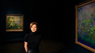 Marianne Mathieu, la directrice scientifique du Musée Marmottan Monet à la National Gallery of Australia de Canberra (6 juin 2019) (XINHUA VIA MAXPPP)