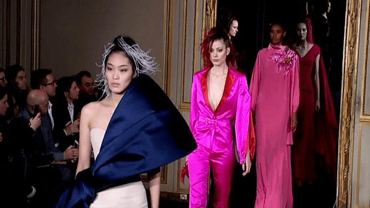 Le défilé Alexis Mabille à la semaine de haute couture. Collection printemps-été 2015  (France 3 / Culturebox)
