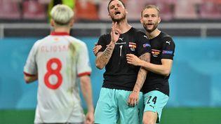 Marko Arnautović contre la Macédoine du Nord, le 13 juin 2021. (DANIEL MIHAILESCU / POOL)