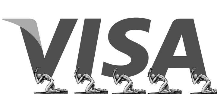 Le logo de Visa détourné par les internautes. (IMGUR.COM)