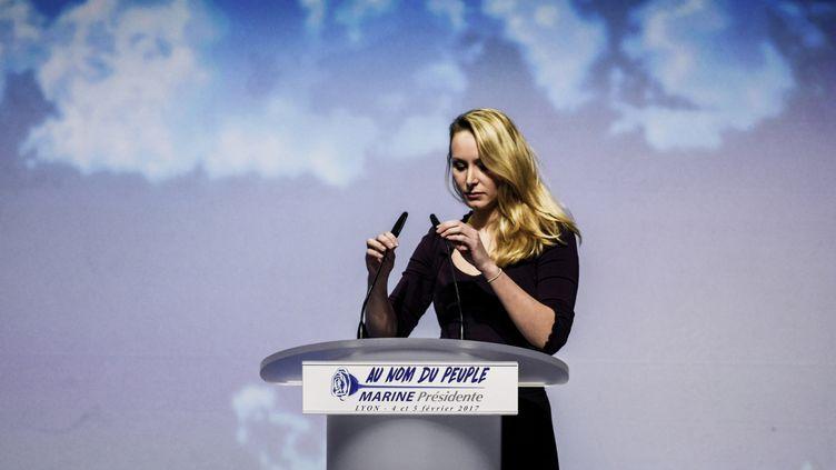 Marion Maréchal-Le Pen le 4 février 2017 à Lyon. (JEFF PACHOUD / AFP)