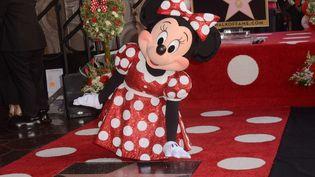 Minnie Mouse devant son étoile sur Hollywood Walk of Fame, 22 janvier 2018  (David Edwards/NEWSCOM/SIPA)