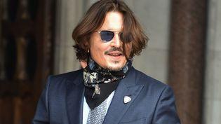 L'acteur, réalisateur et producteur américain Johnny Depp à son arrivée à la Haute cour de justice de Londres le 24 juillet 2020. (SOPA IMAGES / SIPA / JAMES WARREN)