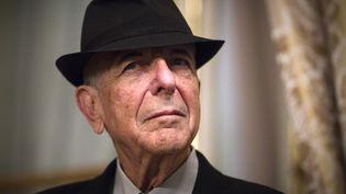 Le musicien et poète canadien Leonard Cohen, à Paris, le 16 janvier 2012. (JOEL SAGET / AFP)