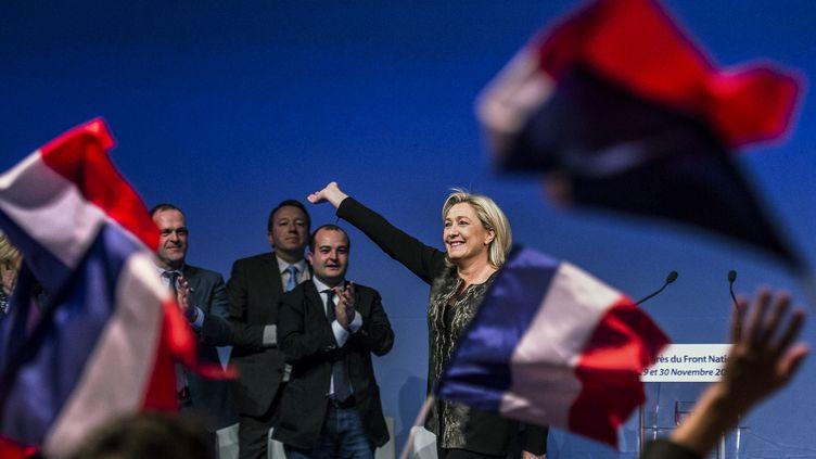 Marine Le Pen, le 30 novembre 2014 à Lyon. (JEFF PACHOUD / AFP)